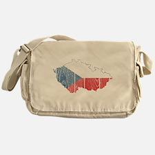 Czech Flag And Map Messenger Bag