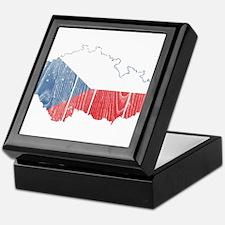 Czech Flag And Map Keepsake Box
