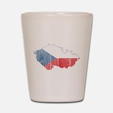 Czech Flag And Map Shot Glass