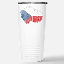 Czech Flag And Map Travel Mug