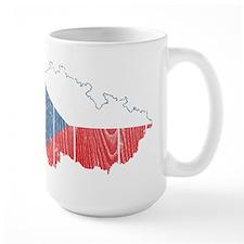 Czech Flag And Map Mug