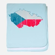 Czech Flag And Map baby blanket