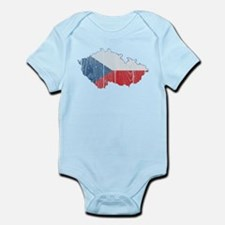 Czech Flag And Map Infant Bodysuit