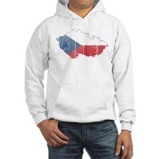 Czech Flag And Map Hoodie