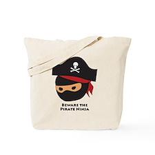 Ninja Pirate Head Tote Bag