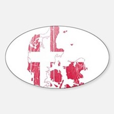 Denmark Flag And Map Decal