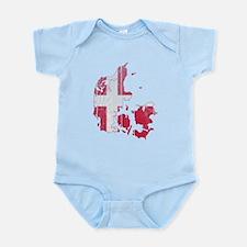Denmark Flag And Map Infant Bodysuit