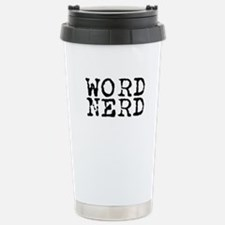 Word Nerd Stainless Steel Travel Mug