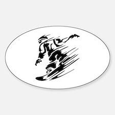 Snowboarding Sticker (Oval)