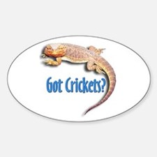 Bearded Dragon 2 Got Crickets Oval Decal