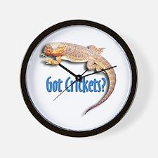 Bearded Dragon 2 Got Crickets Wall Clock