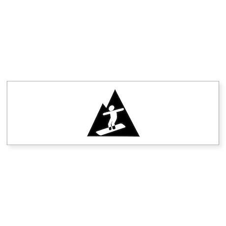 Snowboarding Sticker (Bumper)
