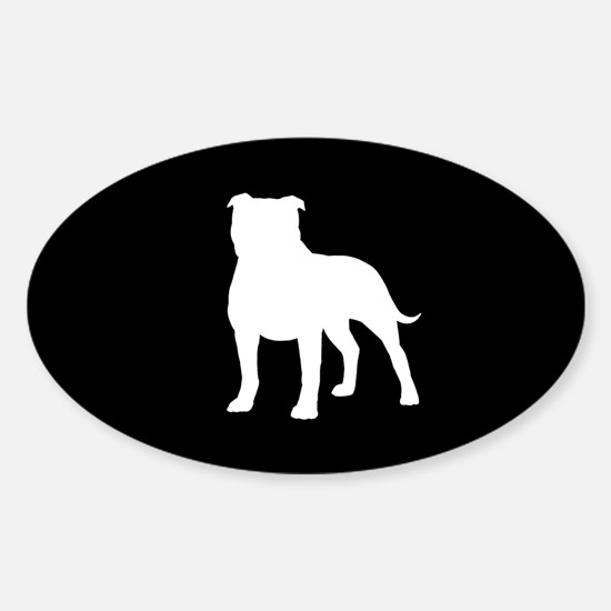 Staffordshire Bull Terrier Sticker (Oval)
