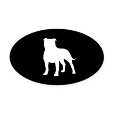 Staffordshire Bull Terrier Oval Car Magnet