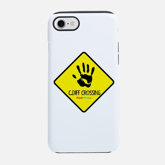 C. Diff Crossing Sign 02 iPhone 7 Tough Case