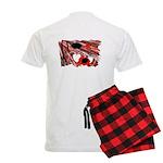 Red and Black Night Men's Light Pajamas