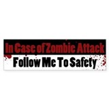 Zombie bumper stickers Bumper Stickers