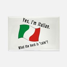 Italian Calm Black Letters Rectangle Magnet