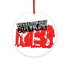 Prevent Rape Ornament (Round)