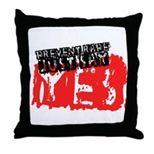 Prevent Rape Throw Pillow