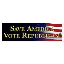 Save America Vote Republican! Bumper Stickers