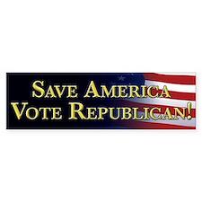 Save America Vote Republican! Car Sticker