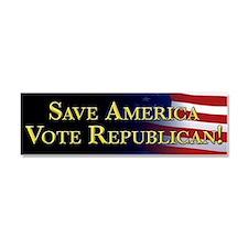Save America Vote Republican! Car Magnet 10 x 3