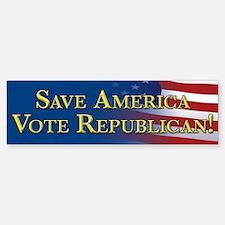 Save America Vote Republican! Sticker (Bumper)