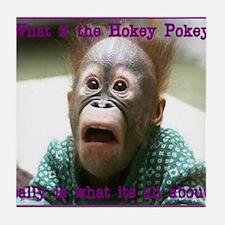 Hokey Pokey Orangutan Tile Coaster
