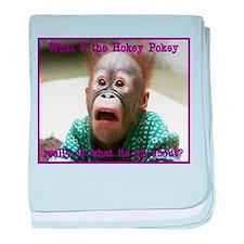 Hokey Pokey Orangutan baby blanket