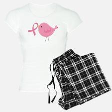 Breast Cancer Bird Pink Ribbon Pajamas