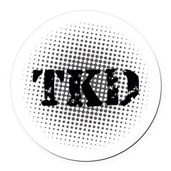 Martial Arts TKD Round Car Magnet