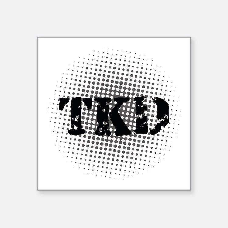 """Martial Arts TKD Square Sticker 3"""" x 3"""""""