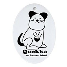 Quokka v.1 Ornament (Oval)