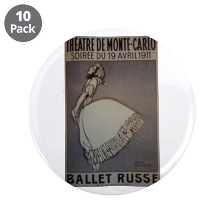 """Pearl Lover-5 3.5"""" Button (10 pack)"""