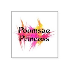 "Pink Poomsae Princess Square Sticker 3"" x 3"""