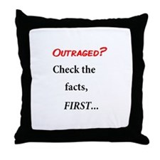 Facts First Throw Pillow