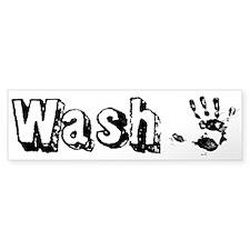 Wash Custom Bumper Sticker