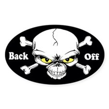 Back Off Custom Decal