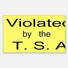 Violated by the T.S.A. Custom Decal