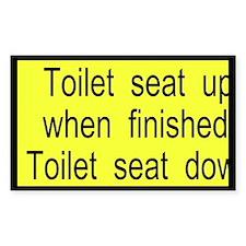 Toilet Seat Custom Decal