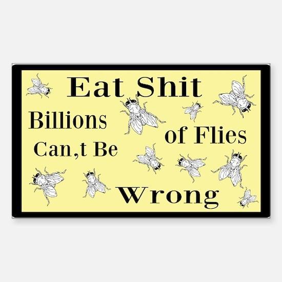 Eat Shit Custom Sticker (Rectangle)