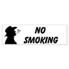 No Smoking Custom Bumper Sticker