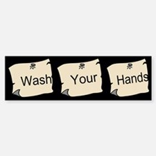 Wash Your Hands Custom Sticker (Bumper)