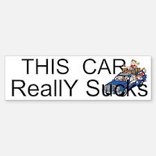 This Car Really Sucks Custom Bumper Bumper Sticker