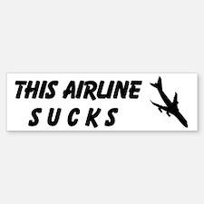 This Airline Sucks Custom Bumper Bumper Sticker