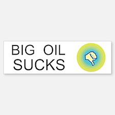 Big Oil Sucks Custom Bumper Bumper Sticker