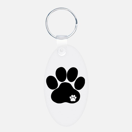 Double Paw Keychains