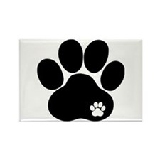 Double Paw Rectangle Magnet
