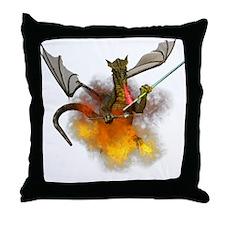 Cute Dragon art Throw Pillow